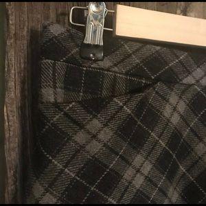 GAP Skirts - Gray Check Skirt Wool Blend Autumn Preppy Pockets